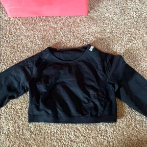 Gymshark cropped long sleeve t